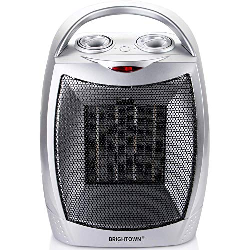 51j VTHc7NL. SS500  - Fan Heater Portable Ceramic Space Heater with Adjustable Thermostat and Overheat Protection Personal Electric Heater for Home Office Desk Kitchen Bedroom and Dorm, 750/1500 Watt