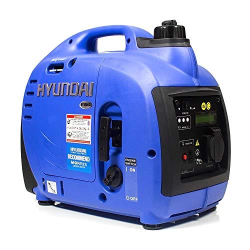 HYUNDAI Inverter-Generator HY1000Si D (tragbarer Benzin Generator, Inverter Stromerzeuger mit 1 kW Maximalleistung, Notstromaggregat, Stromaggregat)