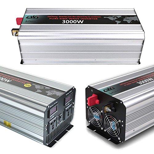 Tellunow 3000W Pico 6000W Inversor 12V 220V 230V De Energía Solar De Onda Sinusoidal Pura De Alta Eficiencia A Los Inversores De Corriente Continua con Pantalla LCD