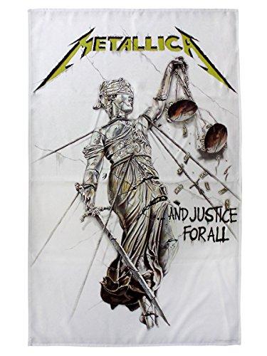 Metallica e giustizia per tutti ufficiale Nuovo Tessuto Bandiera poster (65x 105cm)