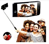 #7: Aux Wired Selfie Stick Handheld Monopod Extendable Fold Selfie Stick for Smartphones and Cameras with Shutter Controls Button on Handle with free stainless steel egg mould inside gift..