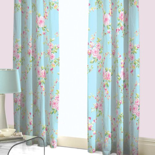 Exceptional Catherine Lansfield Home Canterbury Floral Pencil Pleat Lined Curtains,  Multi, 66 X 72 Inch