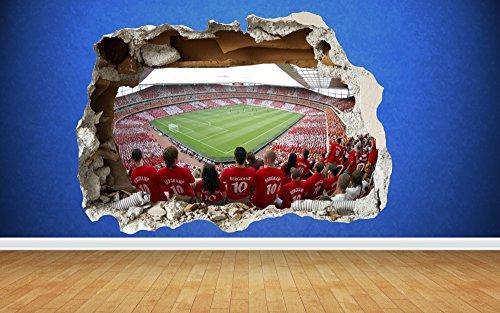 Arsenal Wandtattoo 3d Zerstorten Emirates Stadium Schlafzimmer Fussball Jungen Art Aufkleber Large 81cm X 58cm