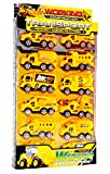 #8: Vibgyor Vibes Set of 12 JCB Construction Trucks / Machines Collection 7.5X3.5 Cm Pack of 12