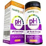 healthywiser PH Bandelettes de test, Résultats précis en 15secondes + ALCALINES alimentaire Tableau PDF + 21Alcaline recettes eBook–150CT par Corps