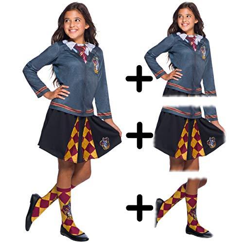 Granger Kinder Kostüm Set Hermine - MFD Gryffindor Top + Skirt + Socks 5 - 7 years
