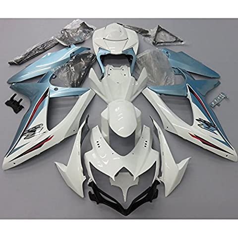 Alpha Rider Bleu et blanc kit complet de Carénage travail Coque carrosserie pour Suzuki GSXR 600750K820082009