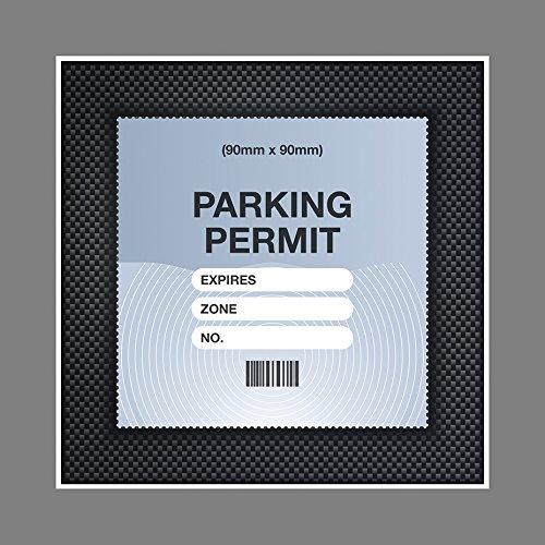 Artisticky Parking Permit Holder Skin Carbon Fibre FRAME