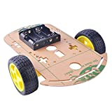 DIYmall Smart Car Chassis Kit Tracing Robot Kits Battery Box Disk Speed Encoder Magnetic Motor