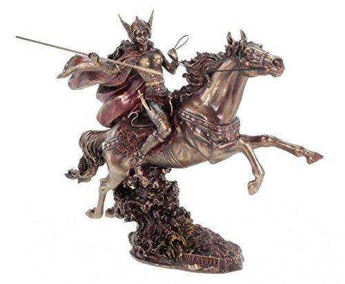 Veronese Figura valquiria a caballo con lanza Bronce Cartel Odin vírgenes