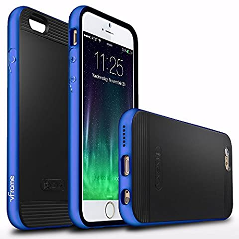 Vena [vFrame] Apple iPhone 6s / 6 Case - Aluminum Frame Dual Layer Slim-Fit Stylish Hybrid TPU Case Cover Shell for Apple iPhone 6 and 6s (Blue)