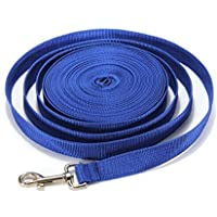 Correa de entrenamiento extralarga para perros (12 m, 15 m, 20 m) – Correa básica de nailon de alta resistencia para perros de tamaño mediano y grande