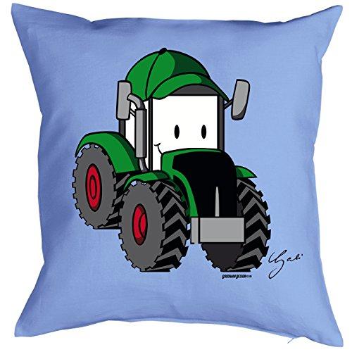 Ausgefallener Kissenbezug Zierkissen Bezug OHNE!!! Füllung mit Designer Motiv by Gali: Lustiger Traktor mit Gesicht Bulldog -