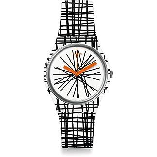 Swatch Reloj Digital para Mujer de Cuarzo con Correa en Silicona GW183