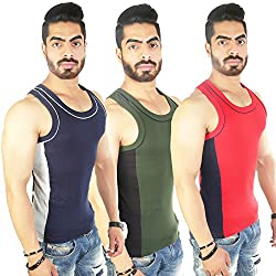 White Moon Cotton Gym vest 999 Sleveless Vest (pack of 3)