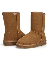 Aimado Zapatos Invierno Botas para la Nieve Calientes de Piel con Suela Antideslizante para Mujer Invierno Rain Nieve Botas