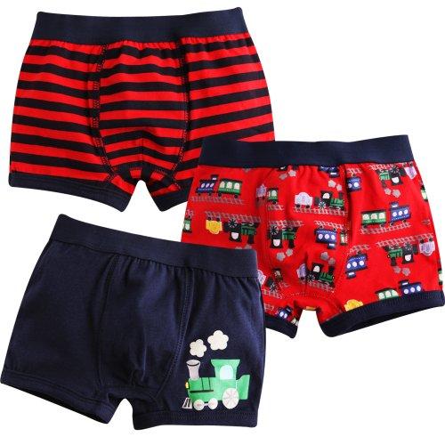 Vaenait Baby Kleinkind Kinder Jungen Unterwäsche Boxer 3-Pack Set Choo Choo Train M