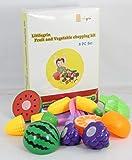 #8: Little Grin Littlegrin Food Heaven Vegetable Fruit Chopping Kit Set Of 8 Pcs For Kids Toy Gift Knife