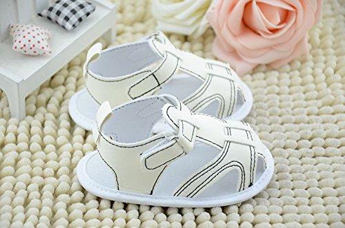 xhorizon ® FLK Unisex Eingeschlechtig Baby Kleinkind Leder Sandale Schuhe Weiß