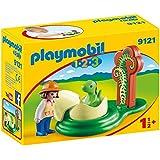 Playmobil 9121 1.2.3 Girl with Dino Egg