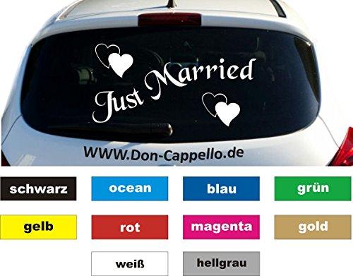 Just Married Auto Aufkleber Sticker Heckscheibe 28 x 56 cm