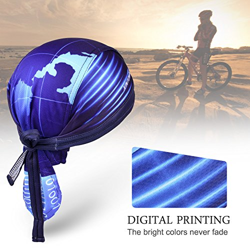 Imagen de vbiger secado rápido sombrero de ciclismo pañuelo pirata  de hombre para deporte azul  alternativa