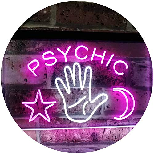 ADV PRO Psychic Reader Star Moon Boutique Bedroom Décor Dual Color LED Barlicht Neonlicht Lichtwerbung Neon Sign Weiß & Violett 600 x 400mm st6s64-i3088-wp