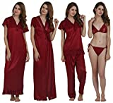 MIAVII MAROON COLOR SATIN FABRIC WOMEN'S...