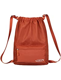 7af39c49d1 G4Free 20L Drawstring Sackpack Sports Gymbag Daypack Lightweight Backpack  (Orange)