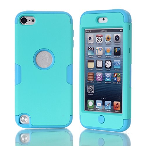 CaseFirst iPod Touch 5 Cover TPU Skin Protector Protective Phone Case Cover for iPod Touch 5 (Green + Blue)