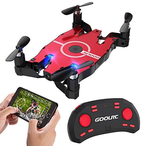Drone con videocamera HD GoolRC T49 6 assi Gyro WIFI FPV 720P Quadcopter G-sensor pieghevole RC Selfie Pocket Drone RTF