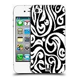 Head Case Designs Tribal Schwarz-Weiss Muster Ruckseite Hülle für Apple iPhone 4 / 4S
