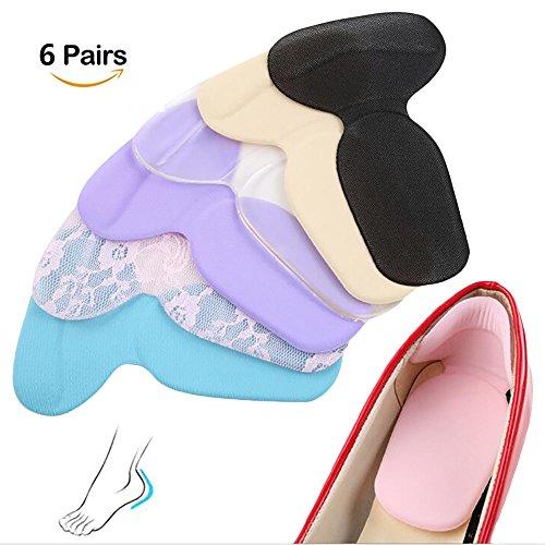 Bequeme High Heel-schuhe (6Paar Schuhe Fersenschutz Fersenkissen High Heel Pads Foot Pad Pflege & High Heels Fersenhalter Kissen Liner für Damen & Herren)