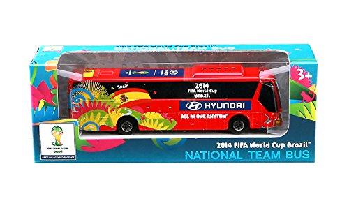 Maisto - Official FIFA Autobus Hyundai, scala 1:95, rosso (24023E)