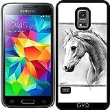 DesignedByIndependentArtists Hülle für Samsung Galaxy S5 Mini - Pferd I by eDrawings38