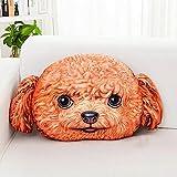 SUN ll-Rückenlehne Nette Karikatur kreative Persönlichkeit Hund Kopf Kissen Wohnzimmer Sofa zwei Kasachstan Kissen Kissen 48 * 40cm ( Farbe : E )