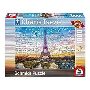 Schmidt Spiele Paris Puzzle - Rompecabezas (Puzzle Rompecabezas, Ciudad, Adultos, Paris, Hombre/Mujer, 12 año(s))