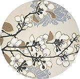 Enkore absorbierenden Untersetzer Keramik, bestehend aus Hochtemperatur verstärktem Porzellan und Kork, Glasuntersetzer für Glas und Tassen, Satz von 2 dogwood Branch
