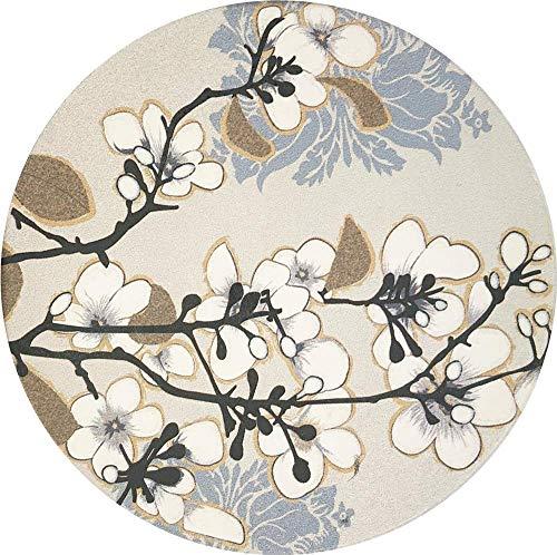 Enkore absorbierenden Untersetzer Keramik, bestehend aus Hochtemperatur verstärktem Porzellan und Kork, Glasuntersetzer für Glas und Tassen, Satz von 2 dogwood Branch -