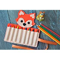 Fox Crayon Holder Felt Animal Caddy Organizer