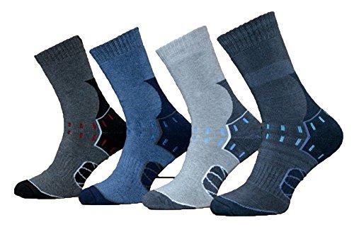 6 Paar Herren Baumwolle Thermo Socken Warme Dicke Winter Socken, Farbmix | 43-46