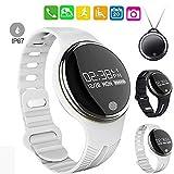 Fitness Activity Tracker Herzfrequenz Monitor Fitness Pedometer Touch Screen Control IP65 Wasserdicht für Android IOS Bluetooth Smart Watch , Weiß