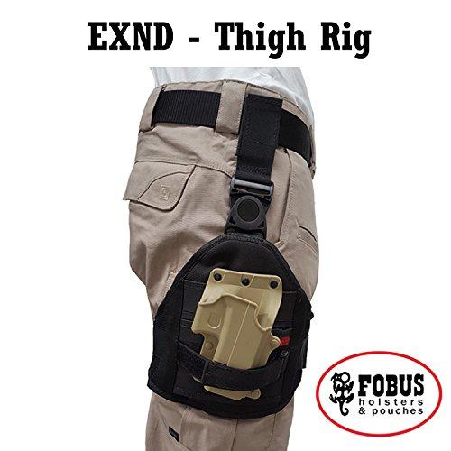 Drop Leg Erweiterung Cordura Oberschenkelgurt für all FOBUS Paddle Holster & Taschen - EXND FOBUS + Best Security Gear Magnet