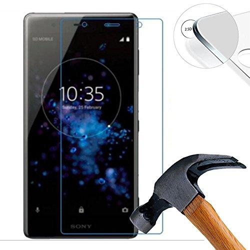 Lusee 2 X Pack Panzerglasfolie Tempered Glass Hartglas Schutzfolie für Sony Xperia XZ2 Premium 5.8 Zoll Folie Protector Bildschirmschutz 0,3mm 9H 2.5D (Nur den flachen Teil abdecken)