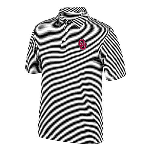 eLITe Top of The World Herren Poloshirt NCAA Team Color Stretch Bunker, Herren, Men's Team Color Stretch Bunker Polo, schwarz, X-Large - Oklahoma Sooners Jersey-material
