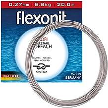 Flexonit Stahlvorfach mit VMC Haken 7x7 Profi ACR 70cm 0,36mm Hakengröße 1