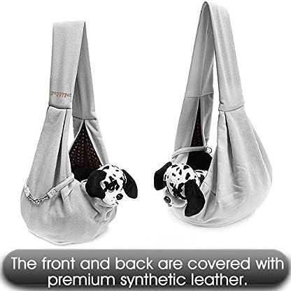poppypet Pet Sling Carrier, Hands-free Sling Pet Dog Cat Carrier Rabbit Bag Comfortable Shoulder Bag, Double-sided Pouch… 7