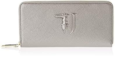 Trussardi Jeans 75w00001-1y090125, Portafoglio Donna, Grigio (Gunmetal), 21x10x3 cm (W x H x L)