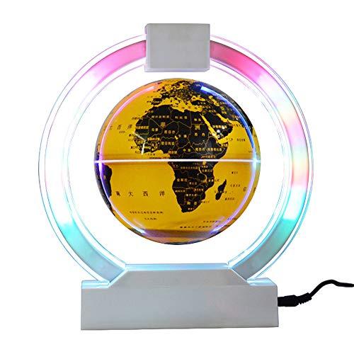 ZHIHUI Globus Beleuchtet - Schwebender Globen - Magnetische WeltKugel Weihnachten Dekoration Geburtstag Geschenke Wohnkultur Deko Gifts Tool,Goldencolorfullight
