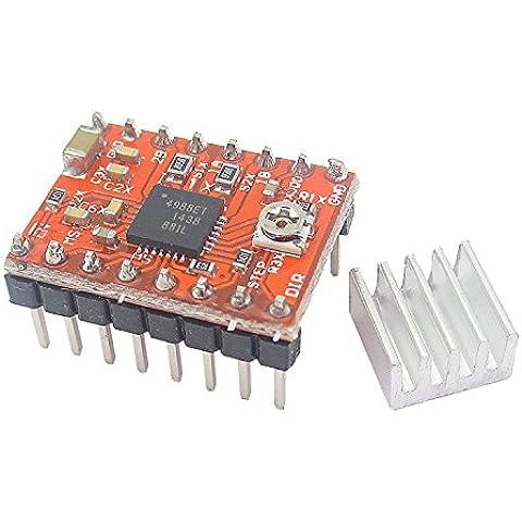 kaisil Sensor/Módulo de actualización en el oro chip Impresora 3d A4988A4988Paso Motor Drive tarjeta